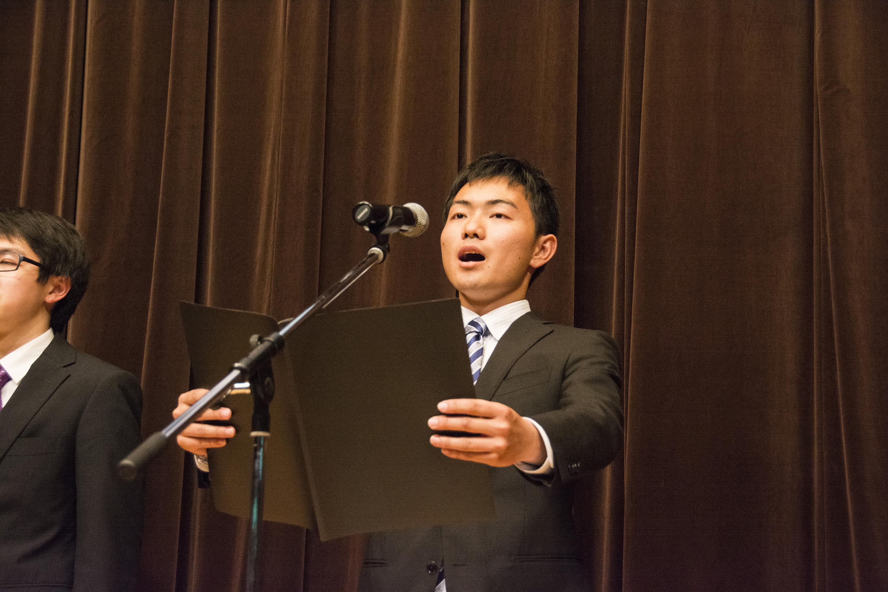 学生代表による宣言